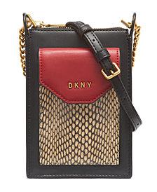 DKNY Alexa Leather Phone Crossbody, Created for Macy's
