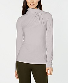 Carrie Gathered Turtleneck Top