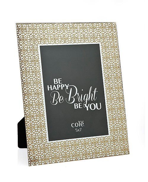 "Philip Whitney Champagne Glitter Ornate Frame - 5"" x 7"""