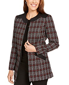 Plaid Zipper-Front Jacket