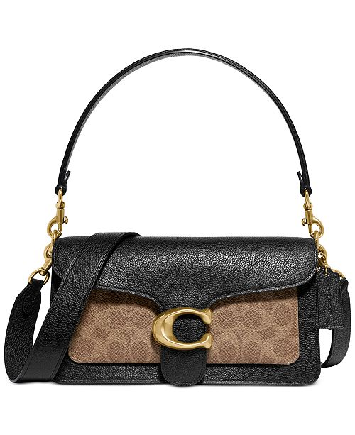 COACH Tabby Coated Canvas Signature Shoulder Bag