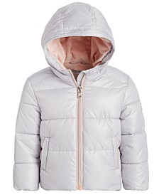 Baby Girls Pearlized Puffer Jacket