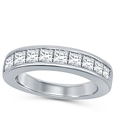 Princess Cut Diamond (1-1/2 ct. t.w.) Channel Band in 14K White Gold