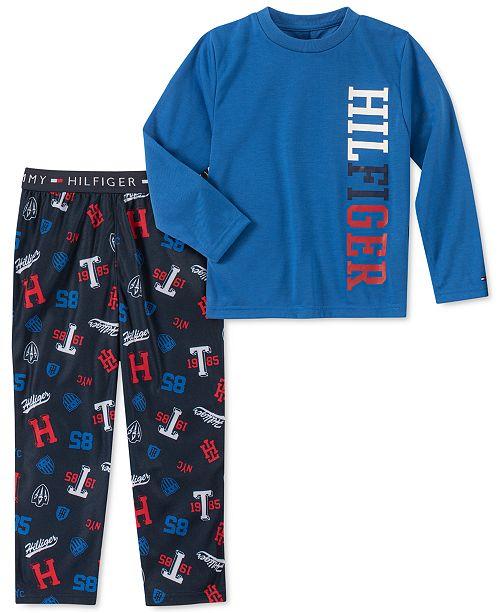 Tommy Hilfiger Toddler, Little & Big Boys 2-Pc. Logo Pajama Set