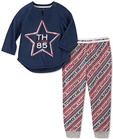 Toddler, Little & Big Girls 2-Pc. Star Pajama Set
