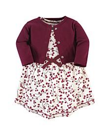 Toddler Girl Organic Dress and Cardigan Set, 2 Piece