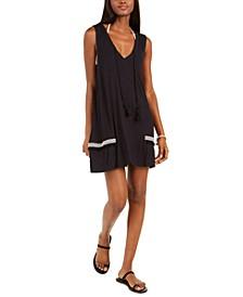 Resort Pom-Pom-Trim Cover-Up Dress
