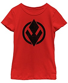 Big Girls Rise of Skywalker Solid Sith Trooper Logo T-Shirt
