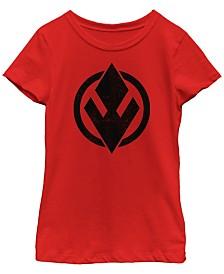 Star Wars Big Girls Rise of Skywalker Solid Sith Trooper Logo T-Shirt