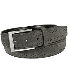 Lucky Brogue Suede Belt