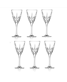 Chic Red Wine Goblets - Set of 6
