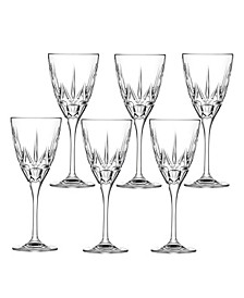 Chic White Wine Goblets - Set of 6