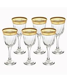 White Wine Melania Collection Amber - Set of 6