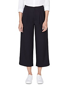 Frisco Tummy Control Wide-Leg Pleated Jeans