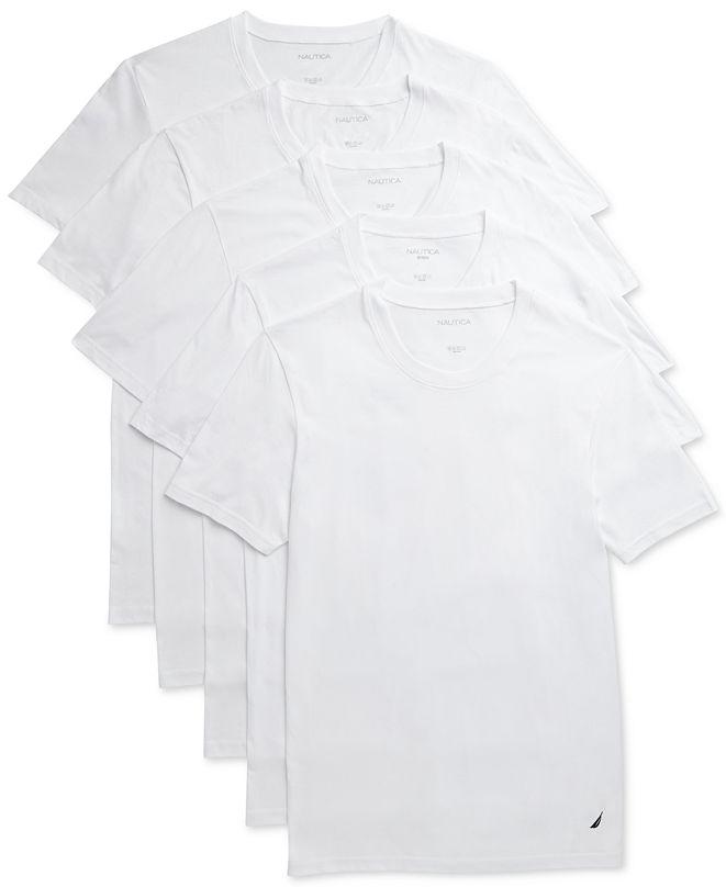 Nautica Men's 5-Pk. Cotton T-Shirt