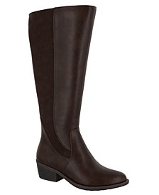 Cortland Wide-Calf Riding Boots