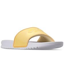 Women's Benassi JDI Swoosh Slide Sandals from Finish Line