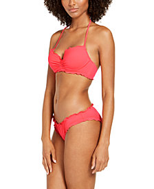 SUNDAZED Nixie Bra-Sized Halter Bikini Top & Bottoms, Created for Macy's