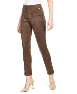 Calvin Klein Pants FAUX-SUEDE LEGGINGS