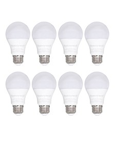 A19 Non-Dimmable Energy Saving LED Light Bulb, Pack of 8