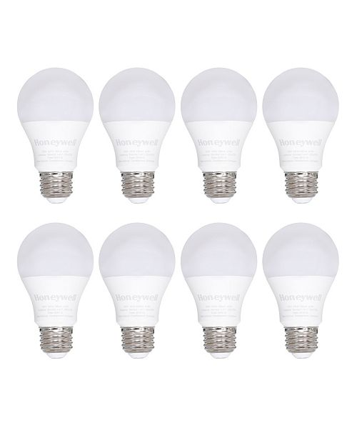 Honeywell A19 Non-Dimmable Energy Saving LED Light Bulb, Pack of 8