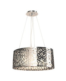Aramis 8-Light Chrome Finish and Clear Crystal Chandelier