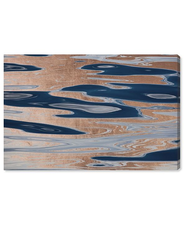"""Oliver Gal David Fleetham - Ocean Surface Abstract Copper Canvas Art, 15"""" x 10"""""""