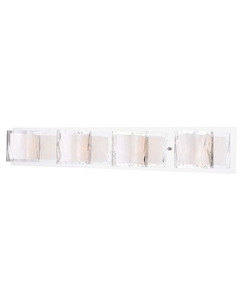Vaxcel Vilo 4 Light Stainless Steel Contemporary Vanity Light