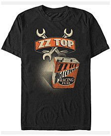 ZZ Top Men's Racing Fuel Oil Can Logo Short Sleeve T-Shirt