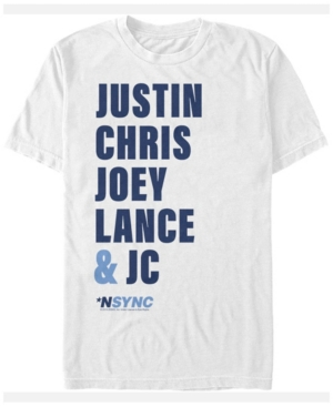 N'Sync Men's Justin Chris Joey Lance Jc Names Short Sleeve T-Shirt