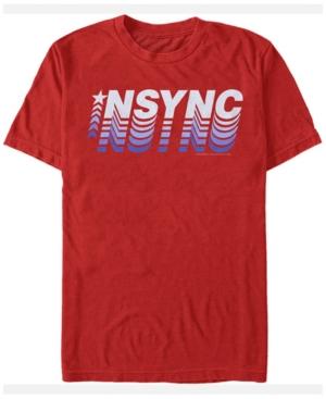 N'Sync Men's Pop Star Gradient Logo Short Sleeve T-Shirt
