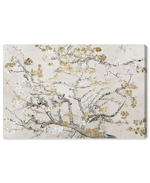 """Oliver Gal Van Gogh in Gold Blossoms Inspiration Light Canvas Art, 45"""" x 30"""""""