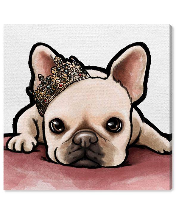 """Oliver Gal Royal Frenchie Canvas Art, 36"""" x 36"""""""