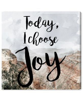 I Chose Joy Desert Canvas Art, 24