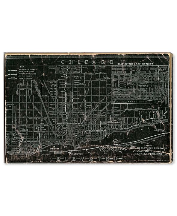 "Oliver Gal Chicago Railroad Canvas Art, 24"" x 16"""