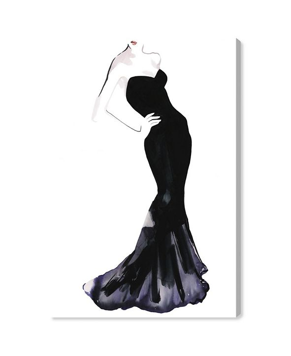 "Oliver Gal Black Dress - Gill Bay Canvas Art, 24"" x 36"""