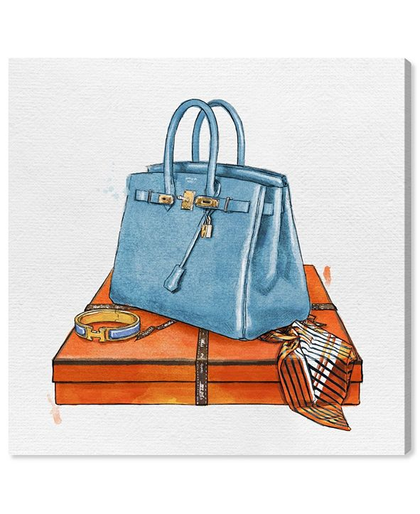 """Oliver Gal My Bag Collection III Canvas Art, 12"""" x 12"""""""