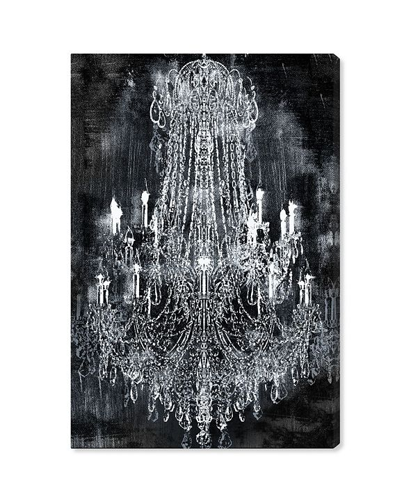 "Oliver Gal 20210 Crushed Velvet Chandelier Canvas Art, 24"" x 36"""