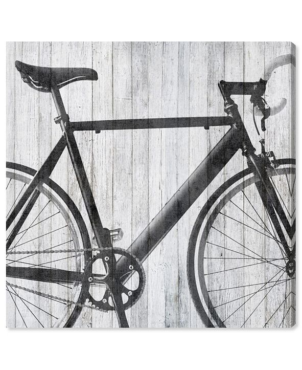 """Oliver Gal Mode Bicycle Canvas Art, 16"""" x 16"""""""