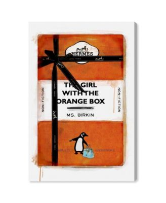 The Girl with The Orange Box Canvas Art, 24