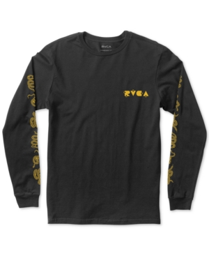 Rvca T-shirts MEN'S DMOTE SNAKE SKIN LONG SLEEVE T-SHIRT