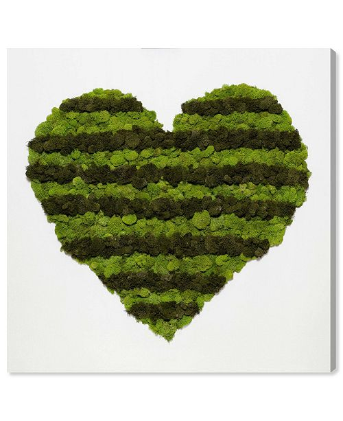"""Oliver Gal Heart of Moss Canvas Art, 12"""" x 12"""""""