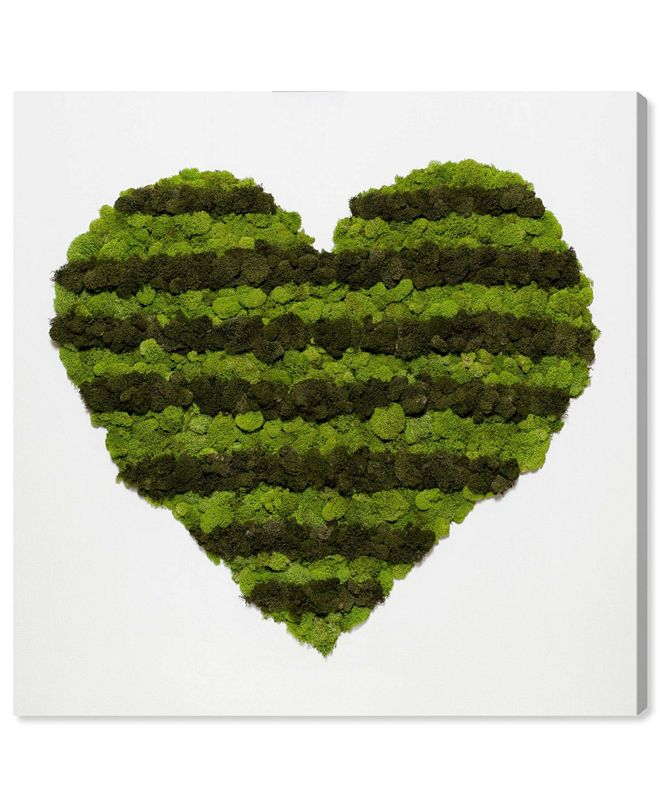 "Oliver Gal Heart of Moss Canvas Art, 12"" x 12"""