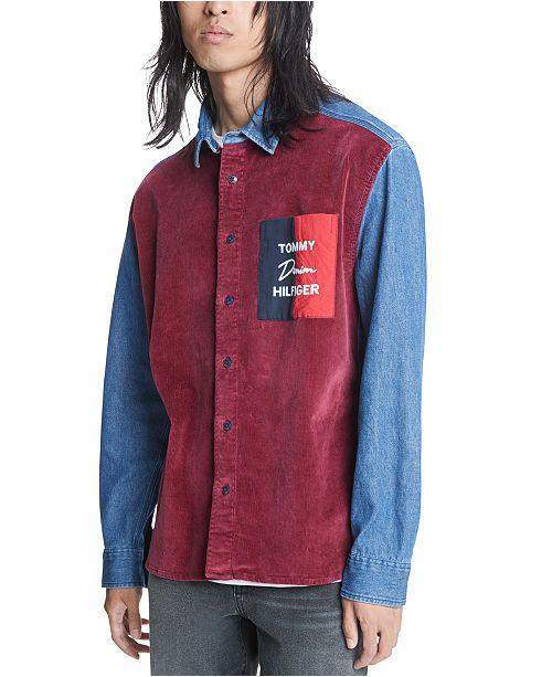 Tommy Hilfiger Men's Denim Corduroy Shirt, Created For Macy's