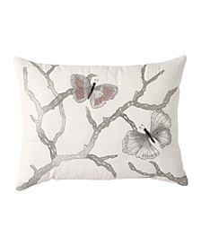 Butterfly Embroidered  12  x 16  Decorative Pillow