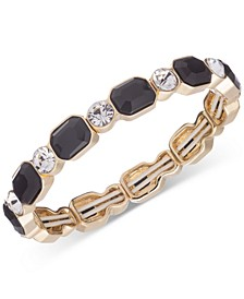 Gold-Tone Crystal & Stone Stretch Bracelet