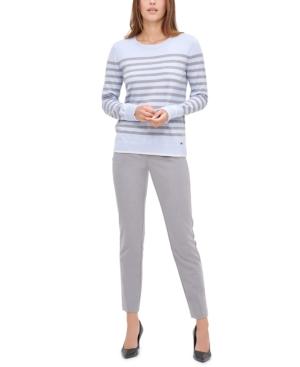 Calvin Klein Sweaters STRIPED CREWNECK SWEATER