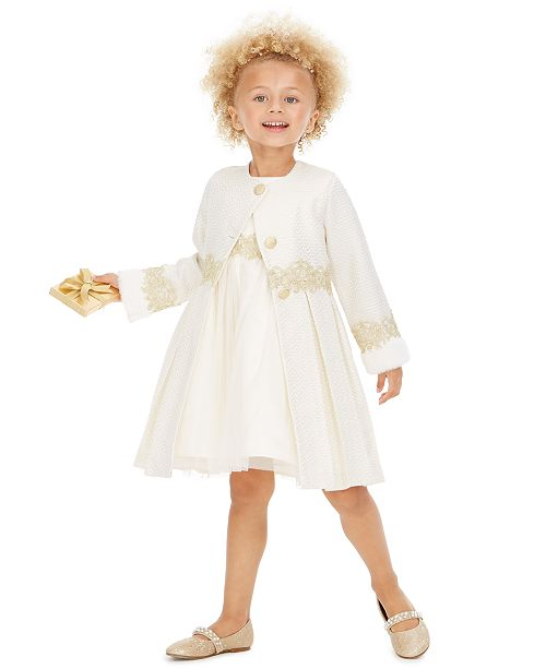 Blueberi Boulevard Toddler Girls 2-Pc. Baroque Jacket & Dress Set