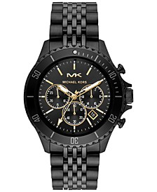 Men's Chronograph Bayville Black Ion-Plated Stainless Steel Bracelet Watch 44mm
