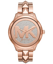 Women's Runway Mercer Rose Gold-Tone Stainless Steel Bracelet Watch 44mm